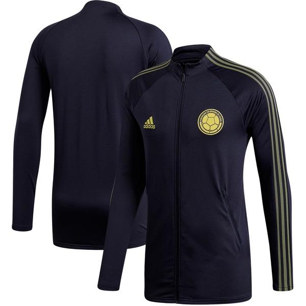 アディダス メンズ ジャケット&ブルゾン アウター Colombia National Team adidas Federation Anthem FullZip Jacket Navy