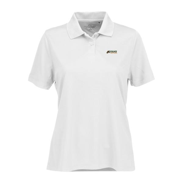 ビンテージアパレル レディース ポロシャツ トップス Florida A&M Rattlers Women's Vansport Omega Plus Size Tech Polo White