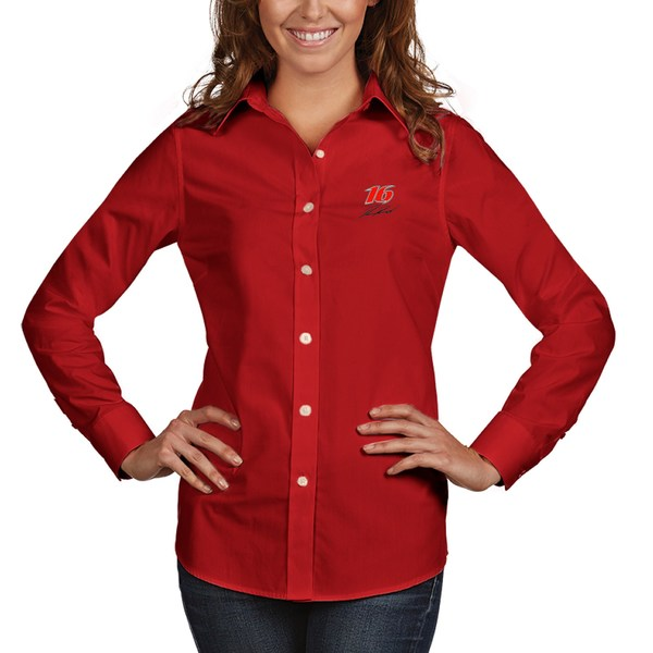 アンティグア レディース シャツ トップス Ryan Reed Antigua Women's Dynasty ButtonDown Woven Shirt Red