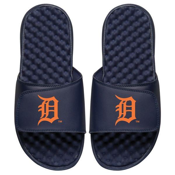 アイスライド メンズ サンダル シューズ Detroit Tigers ISlide Personalized Primary Logo Slide Sandals Navy