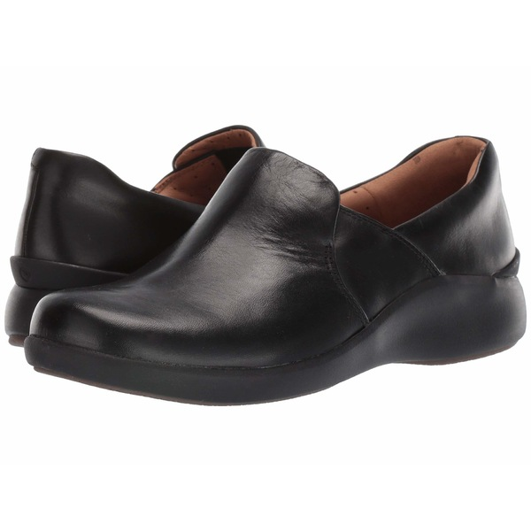 クラークス レディース スリッポン・ローファー シューズ Un Loop 2 Step Black Leather