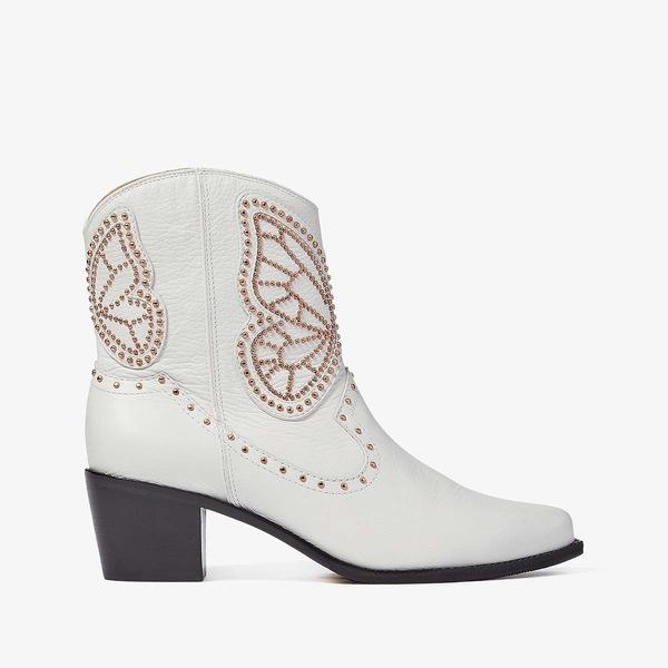 ソフィアウェブスター レディース ブーツ&レインブーツ シューズ Shelby Boot White/Rose Gold