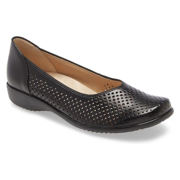 アラ レディース サンダル シューズ ara Avril Perforated Flat (Women) Black Leather