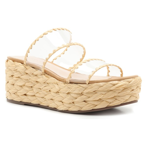 シュッツ レディース サンダル シューズ Schutz Royce Platform Slide Sandal (Women) Transparent