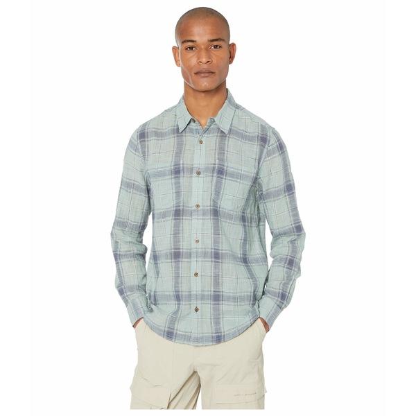 ドード アンドコー メンズ シャツ トップス Salton Long Sleeve Shirt Blue Surf