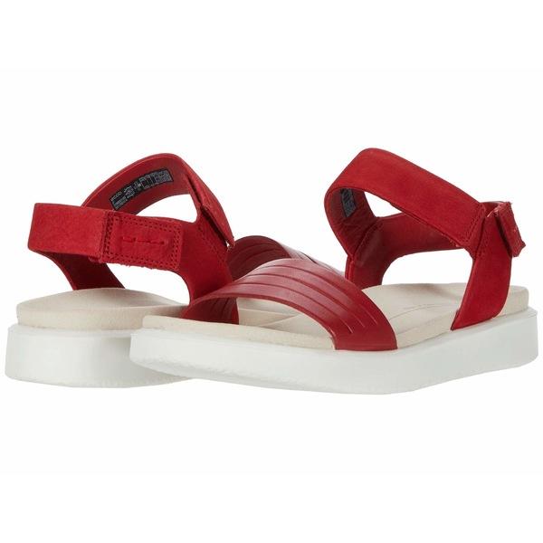 エコー レディース サンダル シューズ Flowt Strap Sandal Chili Red/Chili Red Cow Leather/Cow Nubuck