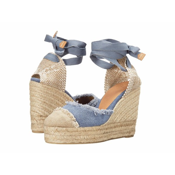 カスタ ニエール レディース ヒール シューズ Catalina 80 Wedge Espadrille Jeans Claro