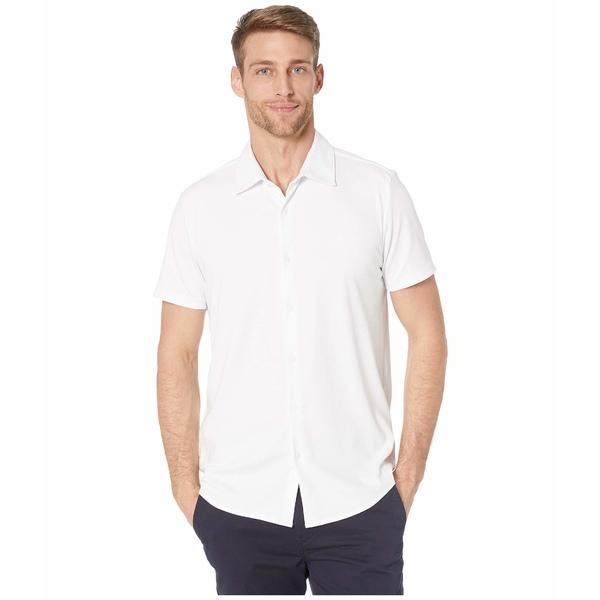 カルバンクライン メンズ シャツ トップス Short Sleeve Liquid Touch Button-Up Polo Shirt Brilliant White