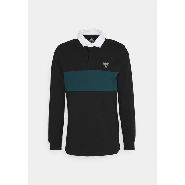 バブアー メンズ トップス カットソー black 全商品無料サイズ交換 vbkz0121 日本限定 再入荷/予約販売! shirt Polo DENTON -