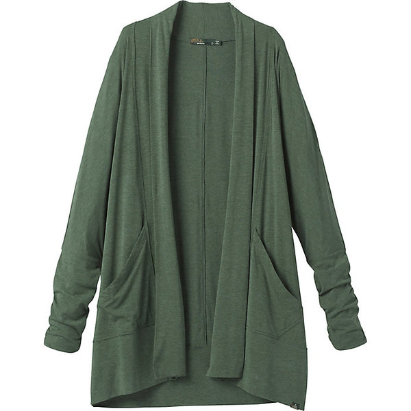 プラーナ レディース シャツ トップス Prana Women's Foundation Wrap Cardigan Canopy Heather