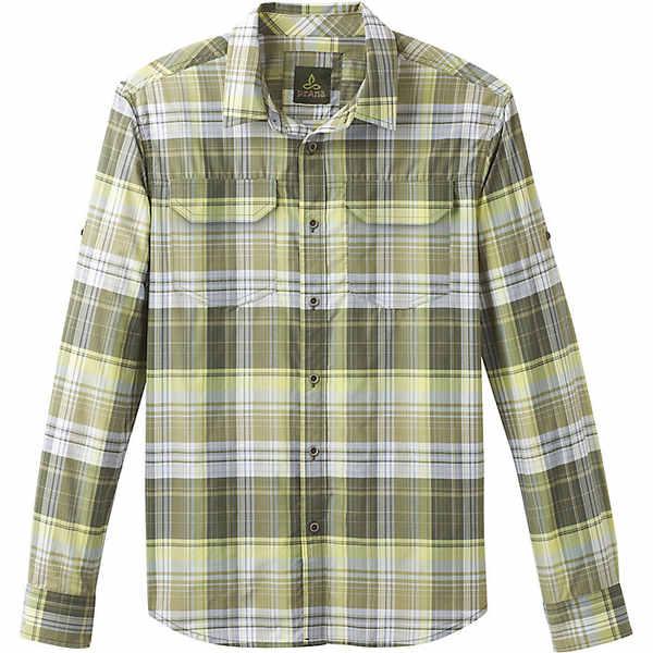 プラーナ メンズ シャツ トップス Prana Men's Citadel Plaid LS Shirt Cargo Green