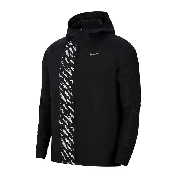 ナイキ メンズ ジャケット&ブルゾン アウター Nike Essential Water Repellent Running Jacket Black/ Reflective Silver