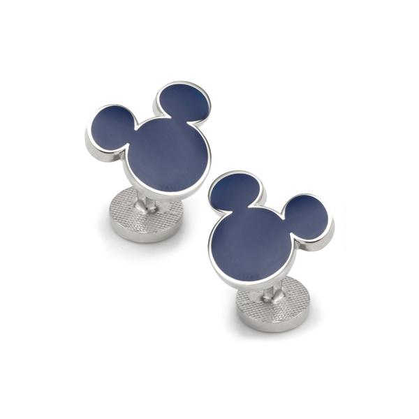カフリンク メンズ アクセサリー カフスボタン Blue 全商品無料サイズ交換 カフリンク メンズ カフスボタン アクセサリー Cufflinks, Inc. Mickey Mouse Silhouette Cuff Links Blue