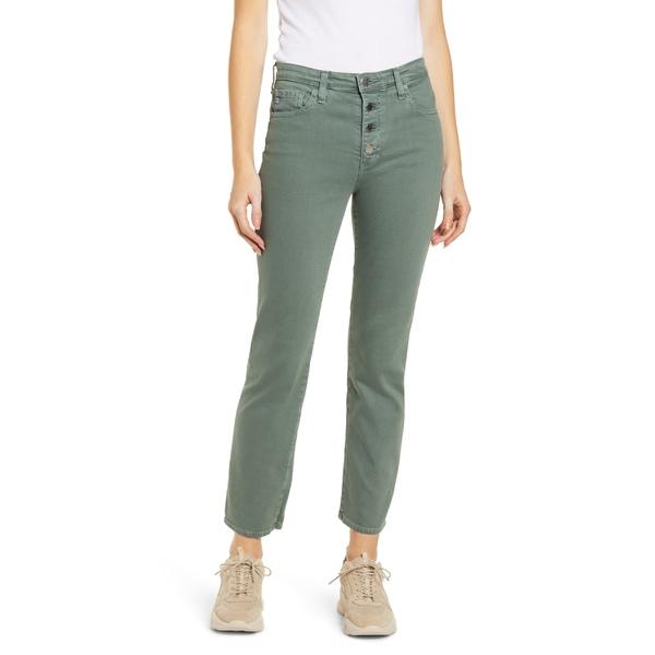 エージー レディース カジュアルパンツ ボトムス AG The Isabelle Button Fly High Waist Ankle Straight Leg Jeans Sulfur Fresh Thyme