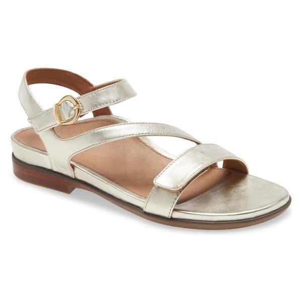 エイトレックス レディース サンダル シューズ Aetrex Tia Sandal (Women) Gold Leather