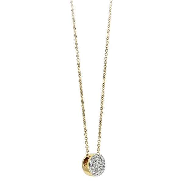 モニカヴィナダー レディース ネックレス・チョーカー・ペンダントトップ アクセサリー Monica Vinader Ava Diamond Button Pendant Necklace Gold