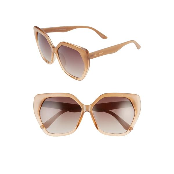 シーフォリー レディース サングラス&アイウェア アクセサリー Seafolly Coolum 60mm Cat Eye Sunglasses Tan/ Brown