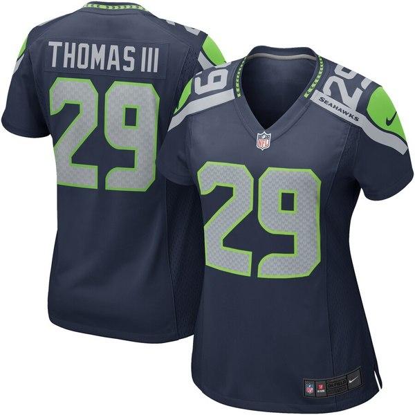 ナイキ レディース シャツ トップス Earl Thomas III Seattle Seahawks Nike Women's Game Jersey College Navy