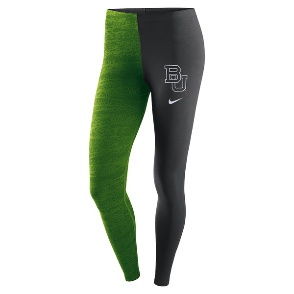 ナイキ レディース カジュアルパンツ ボトムス Baylor Bears Nike Women's Leg-A-See Performance Leggings Green