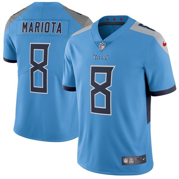 ナイキ メンズ シャツ トップス Marcus Mariota Tennessee Titans Nike Vapor Untouchable Limited Jersey Light Blue