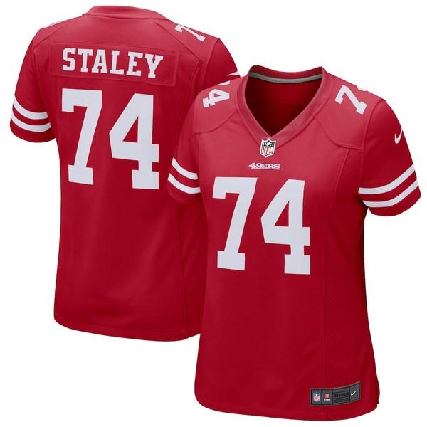 ナイキ レディース シャツ トップス Joe Staley San Francisco 49ers Nike Women's Game Jersey Scarlet