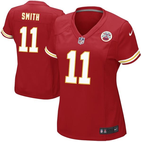 ナイキ レディース シャツ トップス Alex Smith Kansas City Chiefs Nike Women's Game Jersey Red