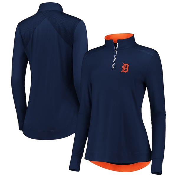 ファナティクス レディース ジャケット&ブルゾン アウター Detroit Tigers Fanatics Branded Women's Iconic Clutch Half-Zip Pullover Jacket Navy