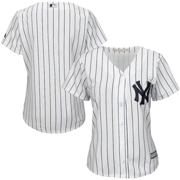 マジェスティック レディース シャツ トップス New York Yankees Majestic Women's Cool Base Jersey White