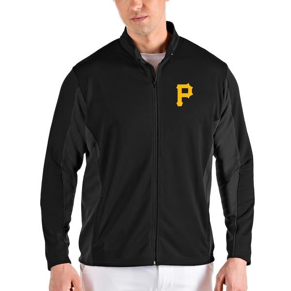 アンティグア メンズ ジャケット&ブルゾン アウター Pittsburgh Pirates Antigua Passage Full-Zip Jacket Black
