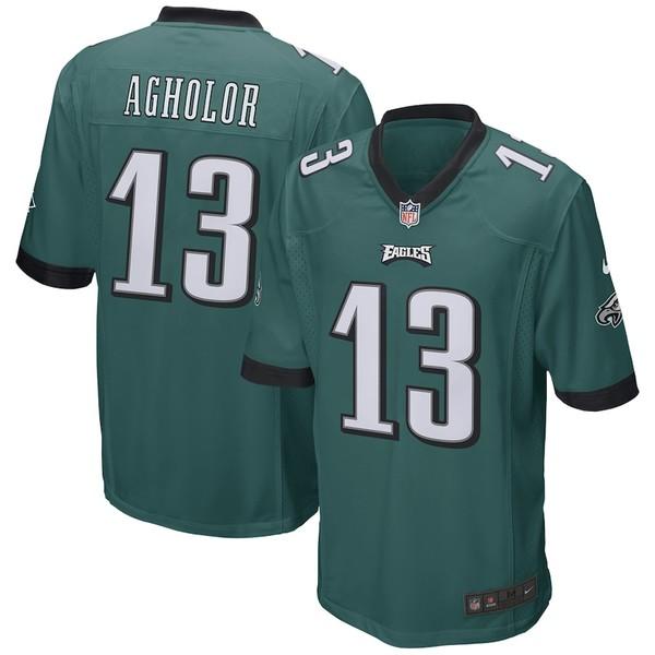 ナイキ メンズ シャツ トップス Nelson Agholor Philadelphia Eagles Nike Game Jersey Green
