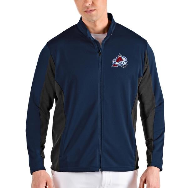アンティグア メンズ ジャケット&ブルゾン アウター Colorado Avalanche Antigua Passage Full-Zip Jacket Navy/Gray