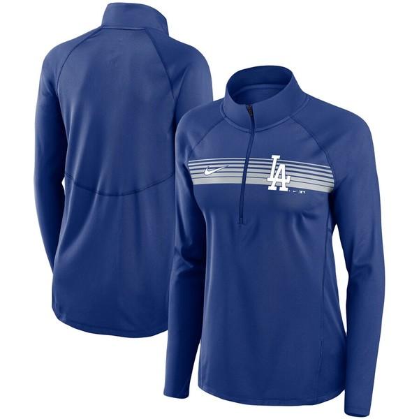 ナイキ レディース ジャケット&ブルゾン アウター Los Angeles Dodgers Nike Women's Seam-To-Seam Element Half-Zip Performance Pullover Jacket Royal