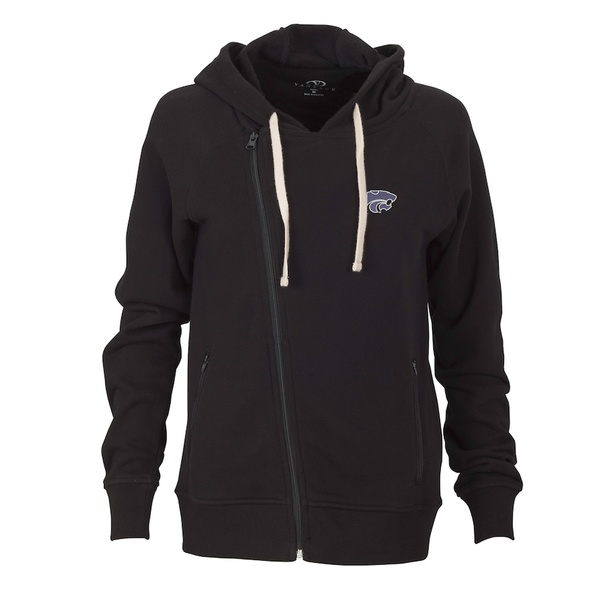 ビンテージアパレル レディース ジャケット&ブルゾン アウター Kansas State Wildcats Women's Fleece Moto Jacket Black
