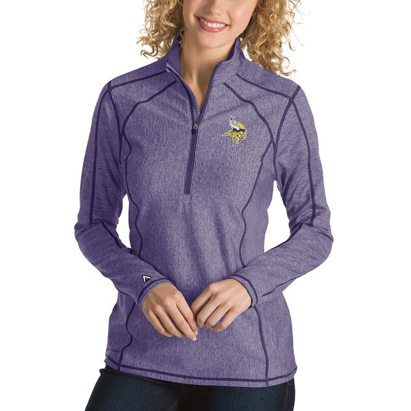 アンティグア レディース ジャケット&ブルゾン アウター Minnesota Vikings Antigua Women's Tempo Desert Dry Quarter-Zip Jacket Heather Purple
