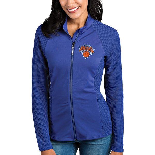 アンティグア レディース ジャケット&ブルゾン アウター New York Knicks Antigua Women's Sonar Full-Zip Jacket Royal