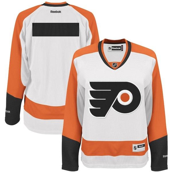 リーボック レディース シャツ トップス Philadelphia Flyers Reebok Women's Premier Road Jersey White