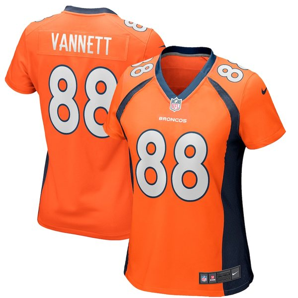 ナイキ レディース シャツ トップス Nick Vannett Denver Broncos Nike Women's Player Game Jersey Orange