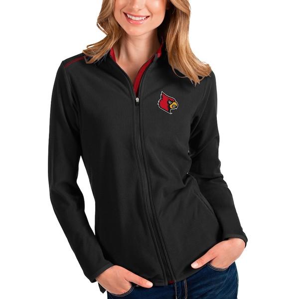 アンティグア レディース ジャケット&ブルゾン アウター Louisville Cardinals Antigua Women's Glacier Full-Zip Jacket Black/Red