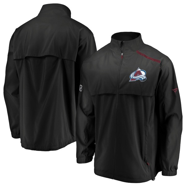 ファナティクス メンズ ジャケット&ブルゾン アウター Colorado Avalanche Fanatics Branded Authentic Pro Rinkside Full-Zip Jacket Black/Burgundy