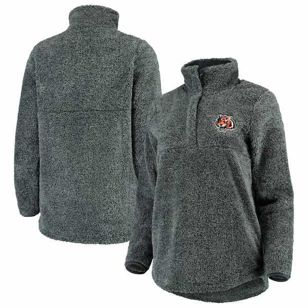コンセプトスポーツ レディース ジャケット&ブルゾン アウター Cincinnati Bengals Concepts Sport Women's Trifecta Snap-Up Jacket Charcoal
