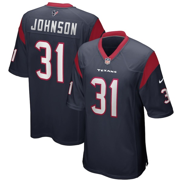 ナイキ メンズ シャツ トップス David Johnson Houston Texans Nike Game Player Jersey Navy
