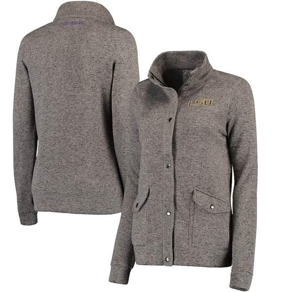 コロシアム レディース ジャケット&ブルゾン アウター LSU Tigers Colosseum Women's Flyaway Full-Zip Jacket Charcoal