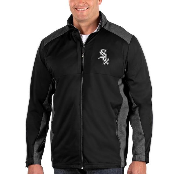 アンティグア メンズ ジャケット&ブルゾン アウター Chicago White Sox Antigua Revolve Big & Tall Full-Zip Jacket Black