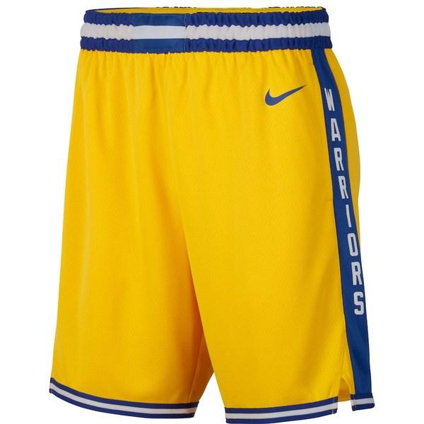 ナイキ メンズ ハーフ&ショーツ ボトムス Golden State Warriors Nike Hardwood Classics Swingman Shorts Gold