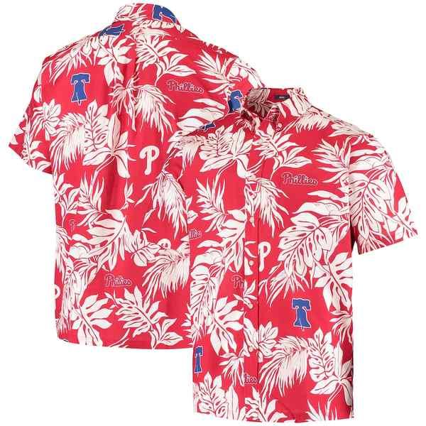 レインスプーナー メンズ シャツ トップス Philadelphia Phillies Reyn Spooner Aloha Button-Down Shirt Red