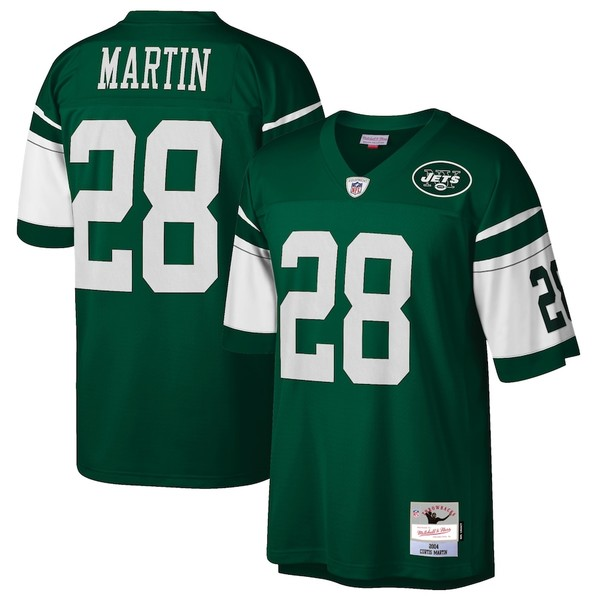 ミッチェル&ネス メンズ シャツ トップス Curtis Martin New York Jets Mitchell & Ness Retired Player Legacy Replica Jersey Green