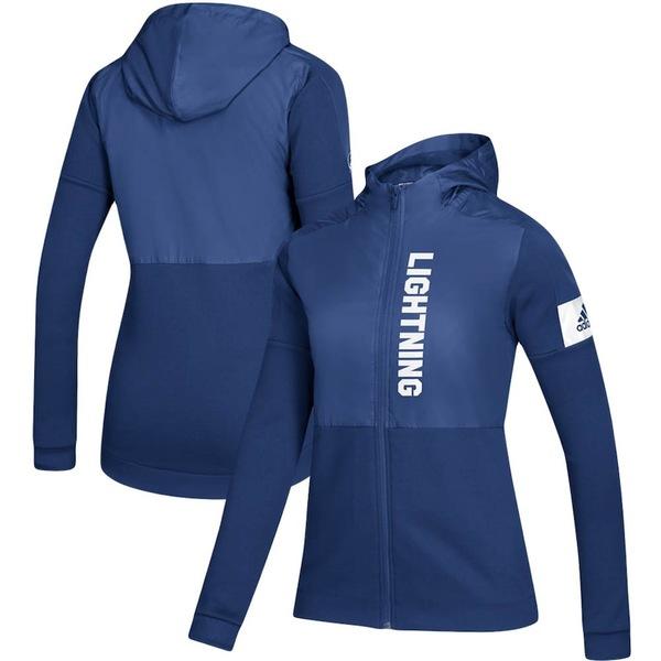 アディダス レディース ジャケット&ブルゾン アウター Tampa Bay Lightning adidas Women's Game Mode Full-Zip Jacket Blue