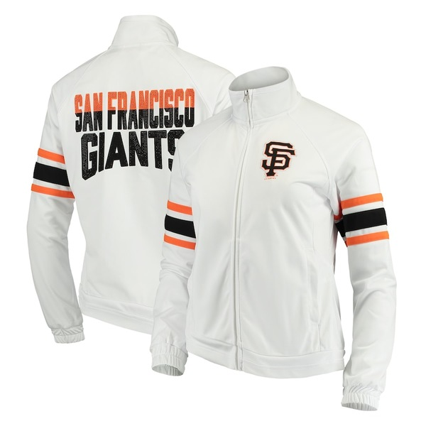 カールバンクス レディース ジャケット&ブルゾン アウター San Francisco Giants G-III 4Her by Carl Banks Women's Game Score Full-Zip Track Jacket White