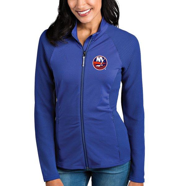 アンティグア レディース ジャケット&ブルゾン アウター New York Islanders Antigua Women's Sonar Full-Zip Jacket Royal