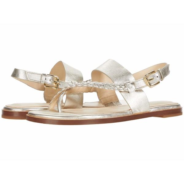コールハーン レディース サンダル シューズ G.OS Anica Thong Sandal Gold Metallic Leather